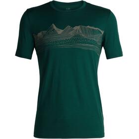 Icebreaker Tech Lite Pyrenees Bluzka z krótkim rękawem Mężczyźni zielony